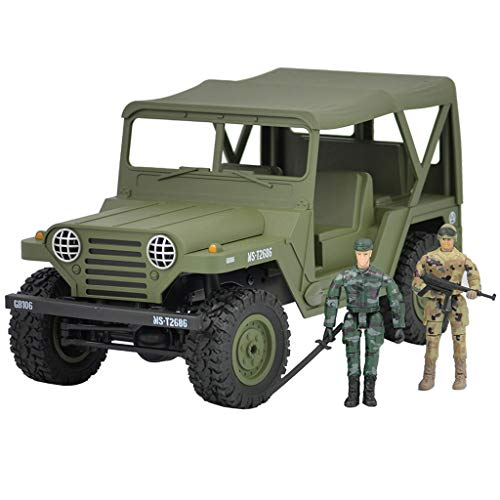 Diufon RC Car,Off-Road Car, Jeep Off-Road Truck, Slip-Proof and Fall-Proof Jeep Appearance Climbing Car Equipped with Soldier Dolls (Army Green) (South County Chrysler Jeep Dodge Gilroy Ca)