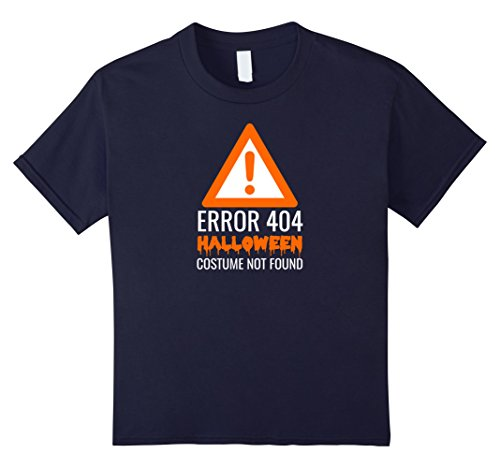 Kids Error 404 Halloween Costume Not Found T-Shirt Shirt Tee 12 Navy (Nerd Costume Spirit Halloween)