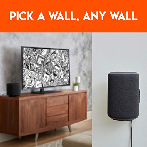 """""""Made for Amazon"""" Wall Mount for Echo Plus (2nd Gen) and Echo (2nd Gen) - Black"""