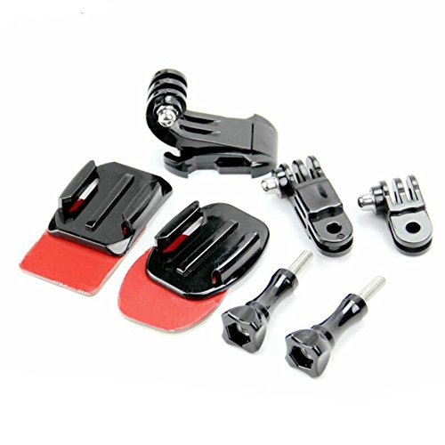TOOGOO 9 in 1 Helmet Front Side Quick Clip Mount Kit GoPro Hero 6 5 4 3 2 Session by TOOGOO (Image #2)