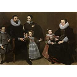 The Perfect Effect Canvas Of Oil Painting 'Portrait Of A Family By Cornelis De Vos, 1631' ,size: 12x17 Inch / 30x44 Cm ,this Amazing Art Decorative Canvas Prints Is Fit For Study Gallery Art And Home Decoration And Gifts