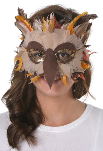 Zucker Feather Products Feather Owl Mask (Owl Head Mask)