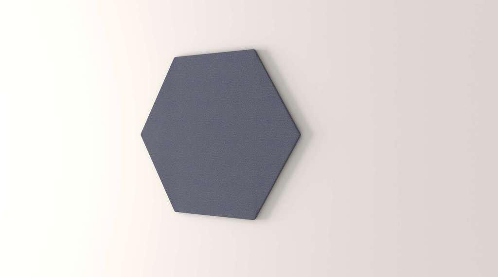 Obex 24-TB-H-TW 24'' Obex Hexagon Tackboard, Twilight, 24''