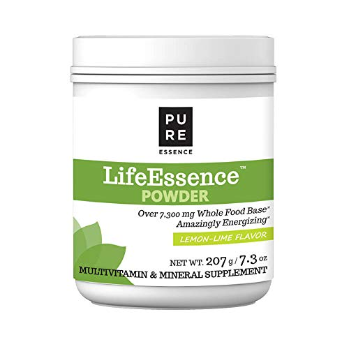 Pure Essence Labs LifeEssence Multivitamin Powder for Women and Men - Natural Herbal Supplement with Vitamin D, D3, B12, Biotin - 7.3 oz