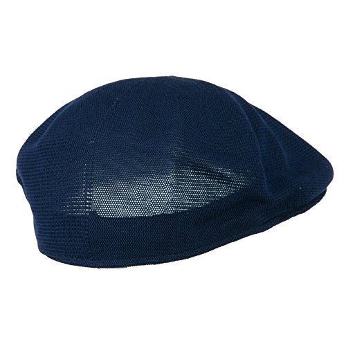 d925276044a Mens Knitted Polyester Ivy Ascot Newsboy Hat Cap Navy Blue - Import It All