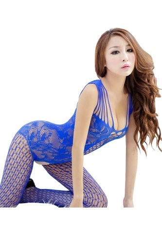 Ninimour Women's Industrial Net Crotchless Bodystocking