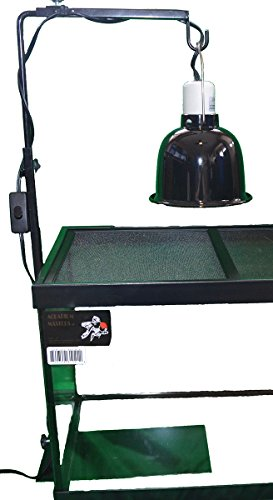 Deep Stand - Two Deluxe Deep Jungle Lamp Stands - Increase Lifespan Of Lamps & Bulbs And Safety. Use With Reptile Lamp Fixtures, terrariums, Reptiles, Amphibians, Small Animals, Birds & More! (Two Lamp Stands)