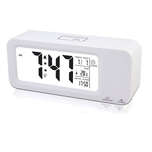 Small Digital Clock with Date Battery: Amazon.com
