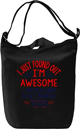 I'm Awesome Borsa Giornaliera Canvas Canvas Day Bag| 100% Premium Cotton Canvas| DTG Printing|
