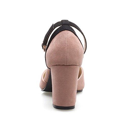 COOLCEPT Damen Mode Riemchen Pumps Pink