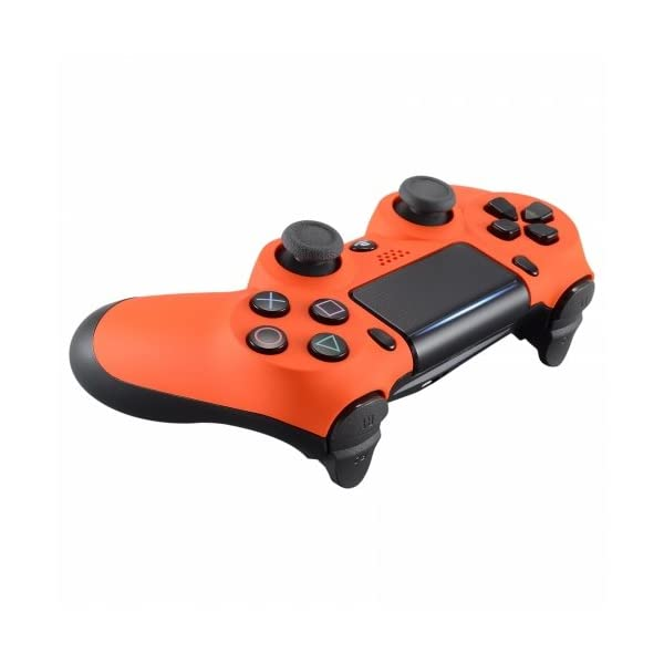 PS4 Dualshock Playstation 4 Wireless Controller Custom Soft Touch New Model (Orange) 4