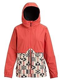 Burton Women's Narraway Rain Jacket, Burnt Sienna/Burnt Sienna Brick Stripe, Large