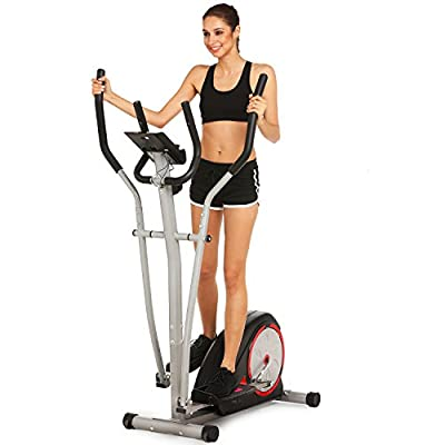 Elliptical Trainer Machine Magnetic Smooth Quiet Driven Exercise Machine for Home Gym