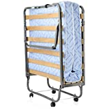 Milliard Super Strong Portable Folding Rollaway Bed - Made In Italy - Mattress Color May Vary