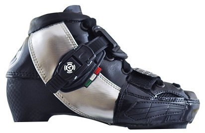 Luigino Kids Adjustable Inline Speed Skate Boot Black Size 2-5