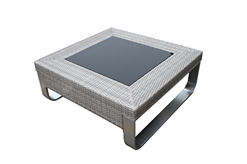 Infinity MOLRCT Modern Contemporary Outdoor Living Patio Furniture Coffee Table; Rattan Wicker & Aluminum Combination (Coffee Table) -
