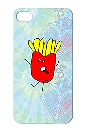 Crazy Fries Red Funny Yum Snack Fries Mcdonalds Cartoon French