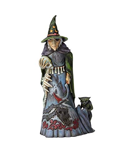 Enesco Jim Shore Heartwood Creek Halloween Witch with -
