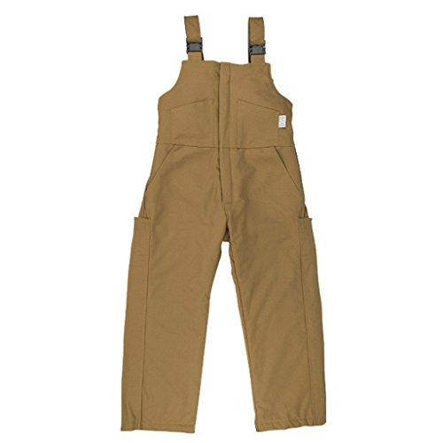 Oil and Gas Safety Supply Men's FR Insulated Bib Overall 3XL Brown