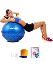 Kalkal Exercise Ball , 65cm Upgraded Anti Slip Yoga Ball with Massage Point Fitness Ball for Birthing,Pilates,Yoga Stability Balance, Quick Pump Included