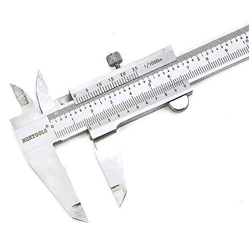 (NORTOOLS Professional Vernier Caliper Stainless Steel for Inside, Outside, Depth and Step Measurements,6 Inch/150mm/0.001
