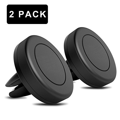 Magnetic Car Mount, QIANXIANG [2 PACK] Universal Air Vent Magnetic Car Mount Phone Holder, With 4 Metal Plates for Cell Phones and Mini Tablets with Fast Swift-Snap Technology.