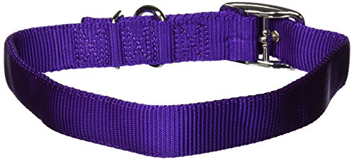 Image of Hamilton Double Thick Nylon Deluxe Dog Collar, 1-Inch by 26-Inch, Purple