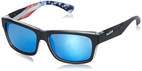 Bolle Jude Sunglasses, Matte Black/USA Olympic, Polarized Offshore Blue oleo - Bolle Sunglasses Jude