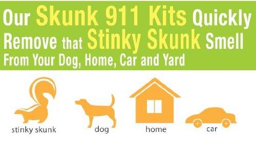 Skunk Kit (DoggiCLEEN ClO2 Skunk Odor Eliminator 911 Rescue Kit)