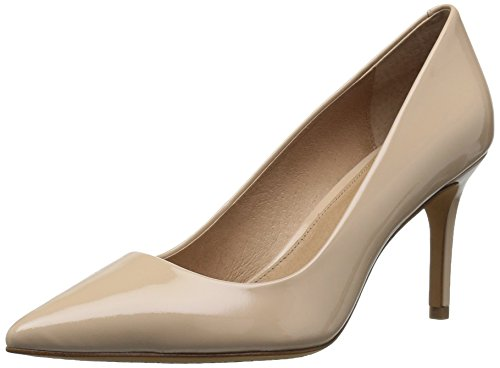 Amazon Brand - 206 Collective Women's Mercer Dress Pump, nude patent leather, 9 B US