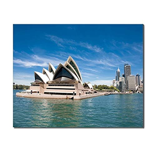 (Baocicco 24x16 Inches Australian Sydney Opera House Canvas Print Picture Home Wall Decor Canvas Wall Art Painting for Living Room Office Hotel Cafe Study Room No Frame Rolled Package Wall Poster)