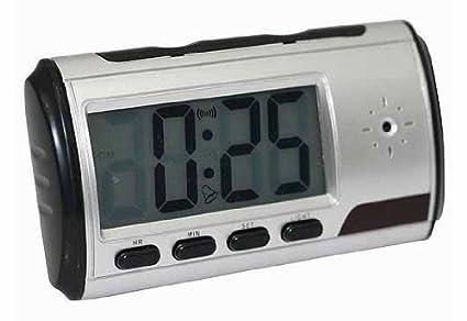 Reloj despertador portátil con cámara espía DVR y detección de movimiento, With 16GB Card: Amazon.es: Hogar