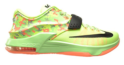 Nike KD VII Easter Men's Shoes Liquid Lime/Black-Vapor Green-Sunset Glow 653996-304 (12 D(M) US)
