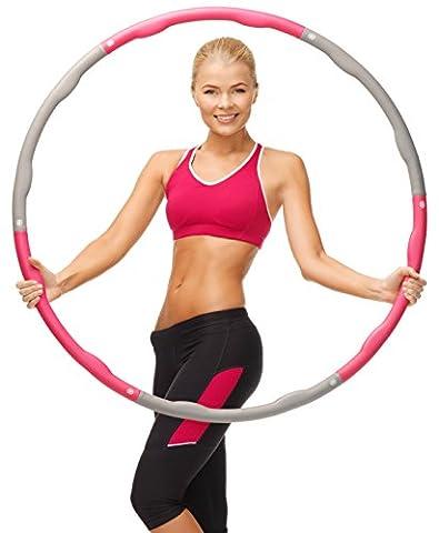 Kinetix Fitness – Fat Burning Fitness Hoop For Adult - Weighted Hula Hoop 2.2 lbs - 2 Sweatbands - Hula Hoop Tricks