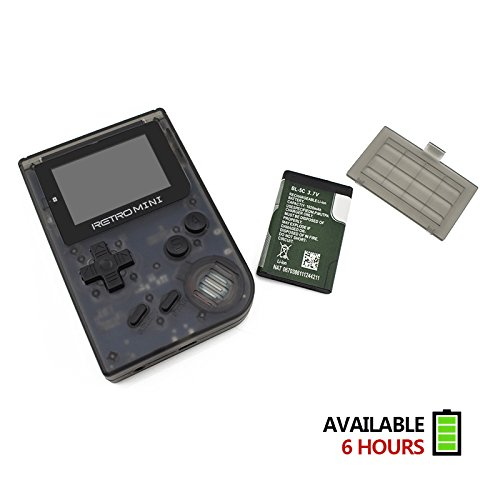SODIAL Retro Game Console 32 Bit Portable Mini Handheld Game Players Built-in 940 for GBA Classic Games Best Gift for Kids Black by SODIAL (Image #2)