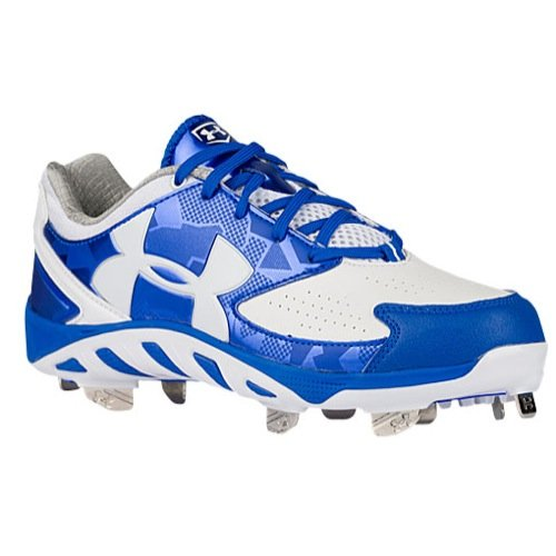 Under Armour Womens Spine Glyde ST CC Metal Cleats 7 US Royal/White