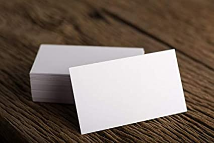 Blank Visiting Cards 100 Pcs Amazon Office Products
