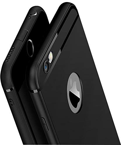 Amozo Soft TPU Back Case Cover for iPhone 6 / iPhone 6S – Black
