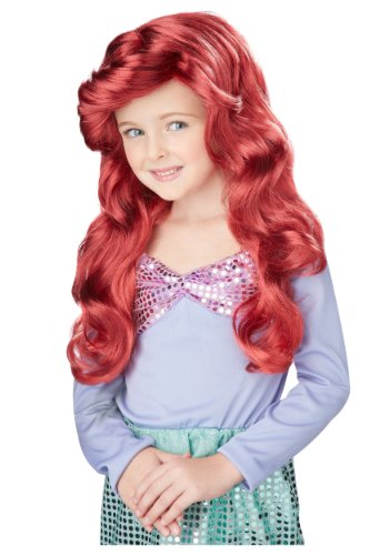 [Little Mermaid Wig (Red) Child Accessory] (The Little Mermaid Costume)