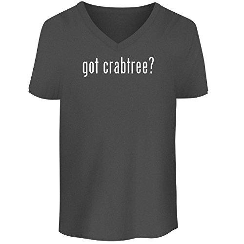 BH Cool Designs got Crabtree? - Men's V Neck Graphic Tee, Grey, XX-Large