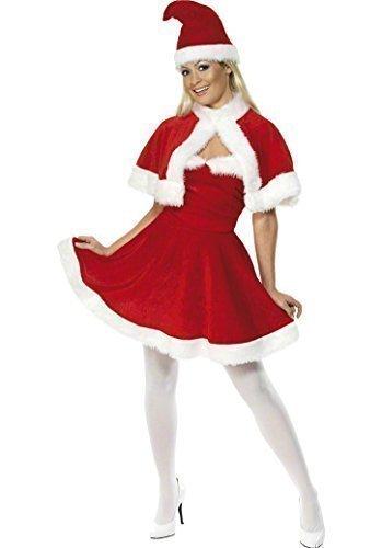 Donna Miss signora Babbo Natale costume con mantello e cappello taglia M 12  – 14. Clicca sull immagine per ... a42a81acccf