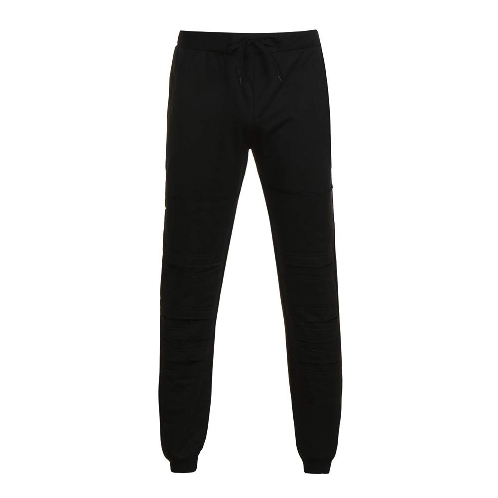 LEERYAAY Cargo/&Chinos Mens Fashion Trousers Pants Casual Holes Pants Sweatpants