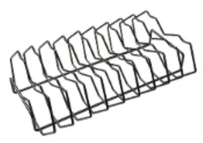 9-Slot Rib Rack for Oval XL 400 by Primo Ceramic Grills by Primo Ceramic Grills