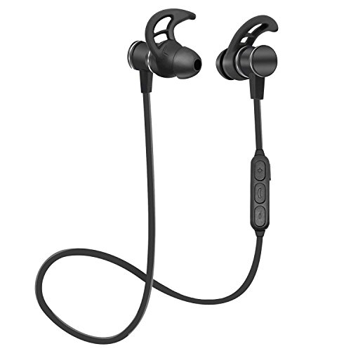 Bluetooth Earbuds, Startjune Wireless 4.1 in-Ear Magnetic Earphones Sports Headphones with Mic, CVC 6.0 Noise Cancelling Microphone for Sports & Workout