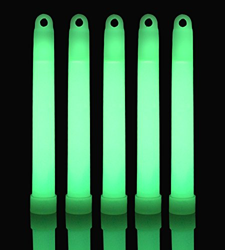 6  Premium Lumistick Glow Light Sticks Green  Tube Of 25