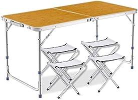 DesertFox アウトドア 折りたたみ テーブル 高さ3段階調整可能120×60×(55-62-70)cm 3WAY自由に高さ調整可能ピクニック レジャー キャンプ用