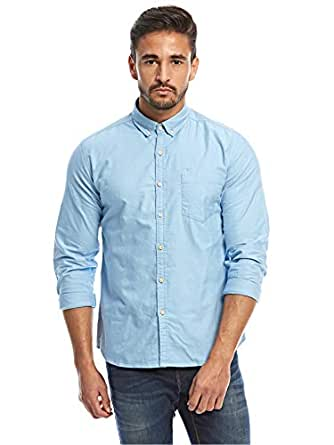 Flying Machine Sky Blue Shirt Neck Shirts For Men