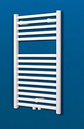 Bad-Heizkörper Toskana, 70x40 cm, 256 Watt Leistung, Mittelanschluss,  alpin-weiß, Handtuchhalter-Funktion, Der Renovierungsprofi