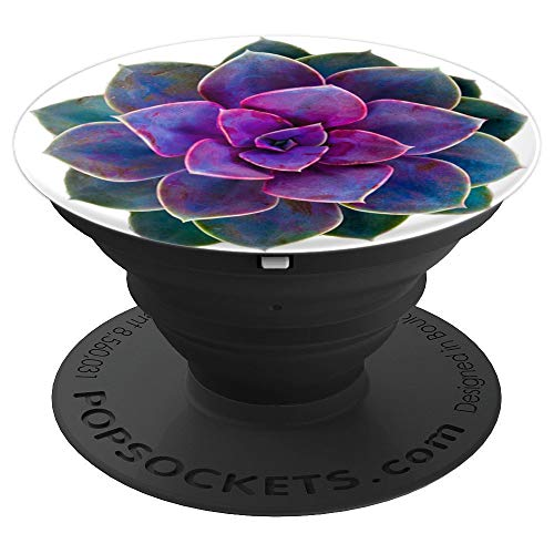 Purple Rose Cactus Flower Cellphone Holder 2019 - PopSockets Grip and Stand for Phones and ()