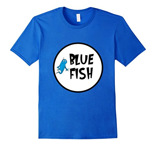 Mens Cute Rhyming Red Blue T-shirt | Group Matching Costume Medium Royal (Family Themed Group Halloween Costume Ideas)